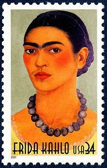 Frida Kahlo stamp issued by the U.S Postal Service, 2001