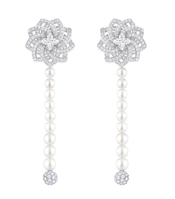 Louis Vuitton White Diamond earrings