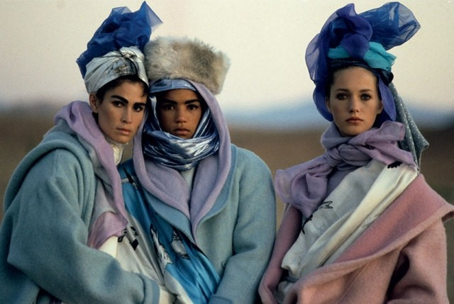 Kenzo 1985 Campaign, Photography Peter Lindbergh.