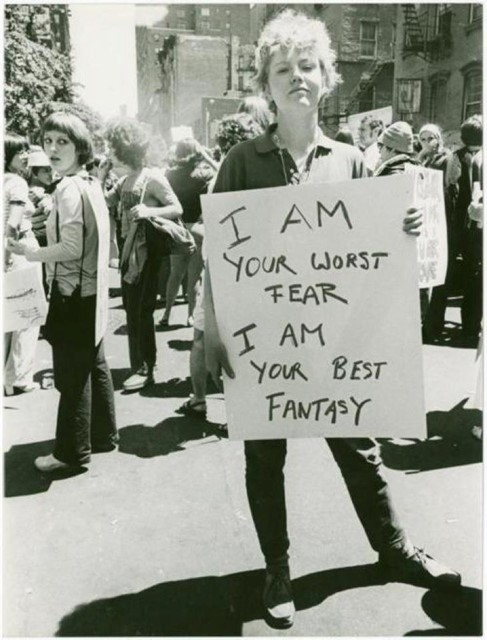 """I am your worst fear I am your best fantasy"", New York, 1970"