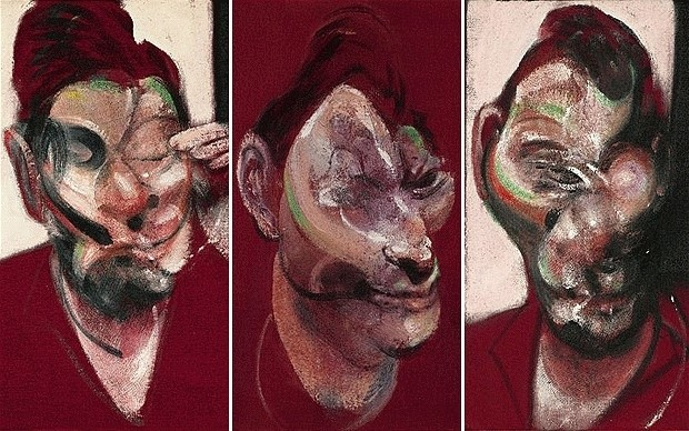 'Three Studies for a Portrait of Lucian Freud' by Francis Bacon, 1965