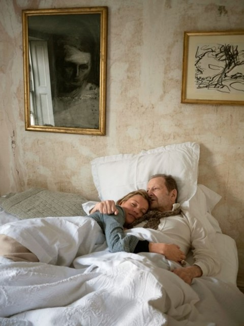 Kate Moss and Lucian Freud