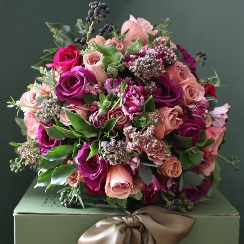 The Real Flower Company Antique Purple Luxury Bouquet