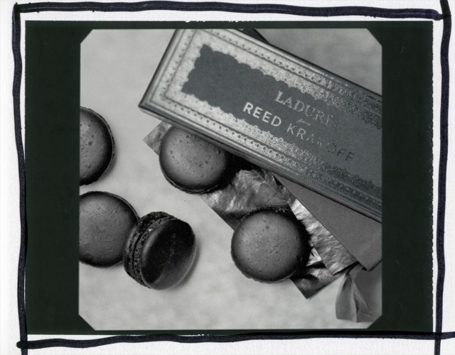 Reed Krakoff x Laduree Matt Black Macaron