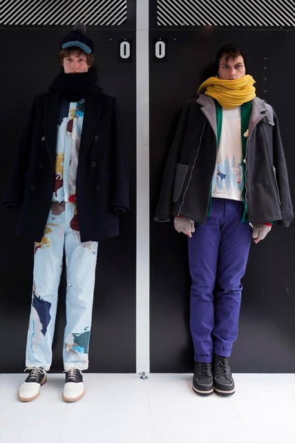 Map denim at Band Of Outsiders AW13
