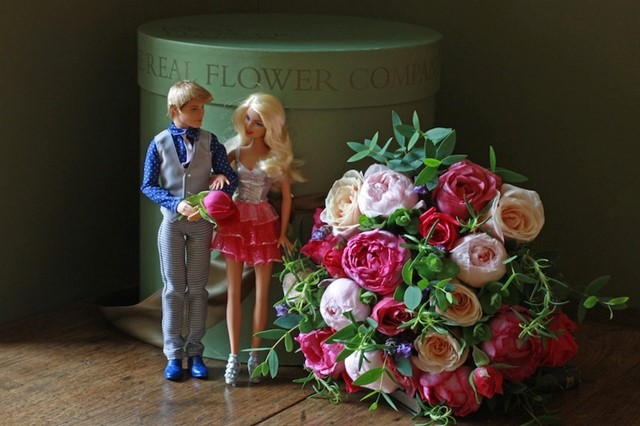BARBIE BOUQUET BY THE REAL FLOWER COMPANY