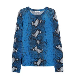 Equipment, Sloane Snake-print Cashmere Sweater