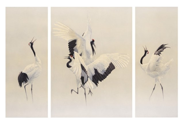 Dance of the Cranes by Renso Tamse