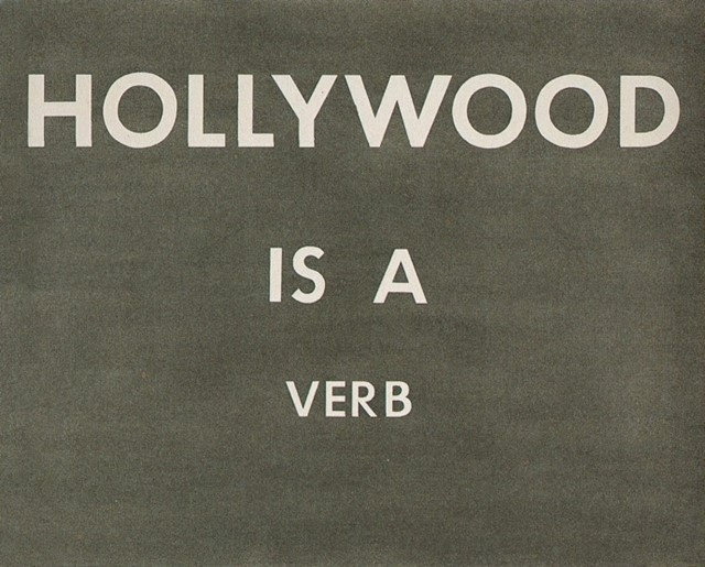Hollywood is a Verb by Ed Ruscha, 1983