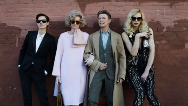 Saskia De Brauw, Tilda Swinton, David Bowie and Andrej Pejic in The Stars (Are Out Tonight), 2013
