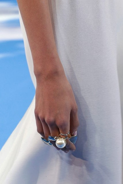 Dior A/W13 silver rings