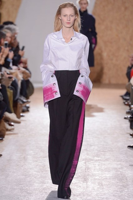 Pink painted cuffs by Maison martin Margiela A/W13