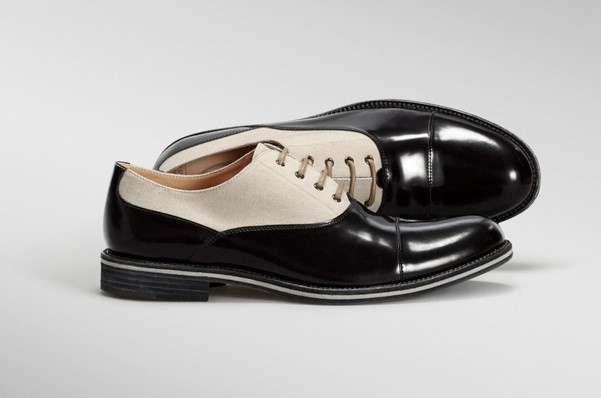Tod's SS13 Leather & Canvas Lace-Ups