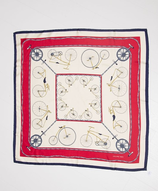 Bicycle print scarf by Céline
