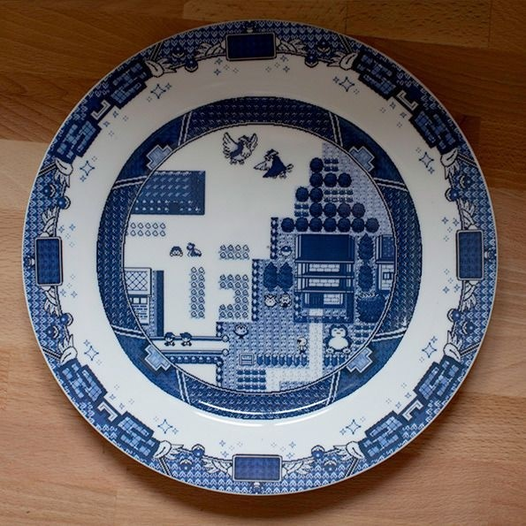 Game Boy Themed Willow Plates by Olly Moss