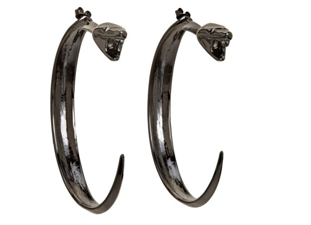 Dominic Jones Black Rhodium Banshee Earrings