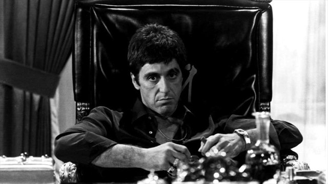 Al Pacino in Scarface, 1983
