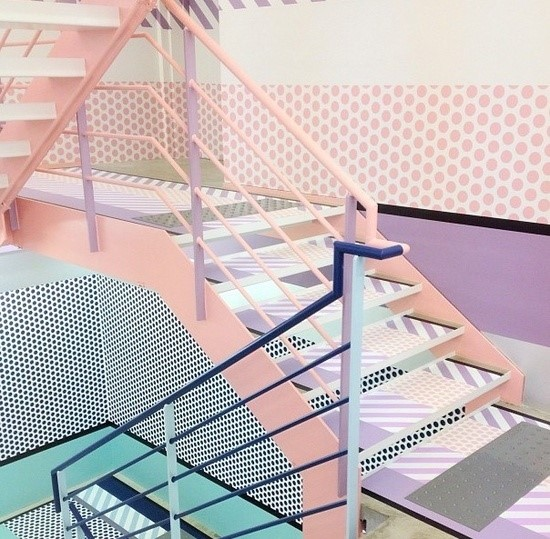 Stairs at Opening Ceremony Tokyo