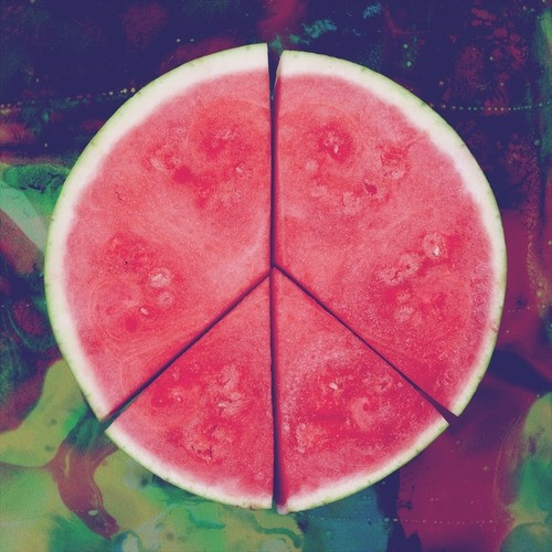 peace and watermelon