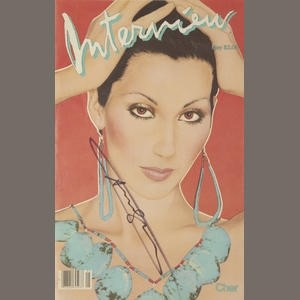 Cher May 1982 Cover Interview Magazine