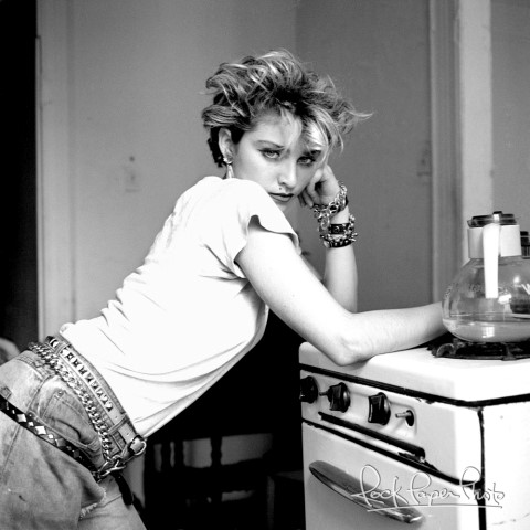 Madonna in a Lower East Side apartment, New York City, 1982