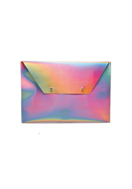 """Hologram Envelope Clutch by """"Somewhere Nowhere"""""""
