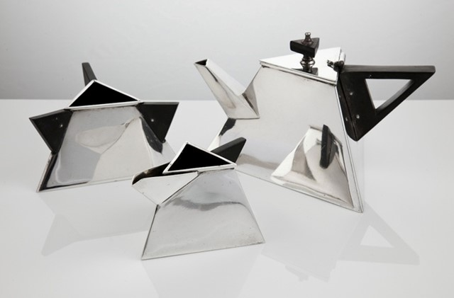 1930s Art Deco Triangular Tea Set