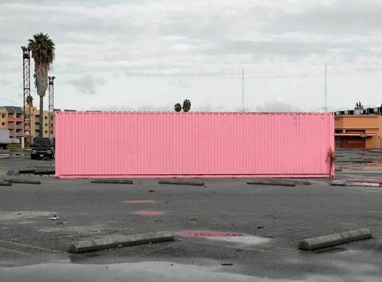 Pink Shipping Container