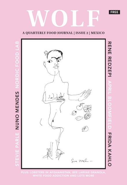 WOLF 'MEXICO' ISSUE FT FRIDA KAHLO SKETCHED BY SUE WEBSTER BLINDFOLDED