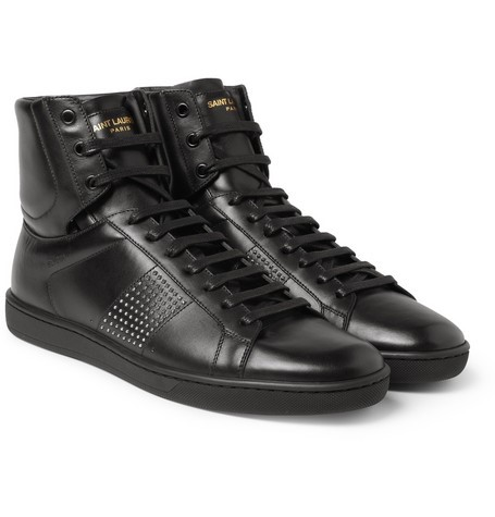 Saint Laurent SL01H Studded Leather High Top Sneakers