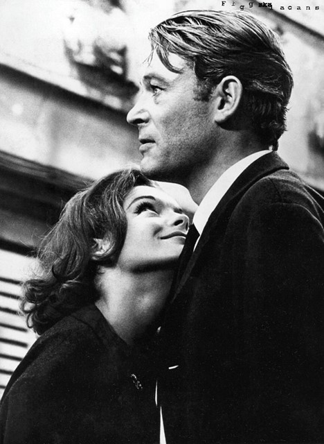 Romy Schneider and Peter O'Toole in What's New Pussycat, 1965