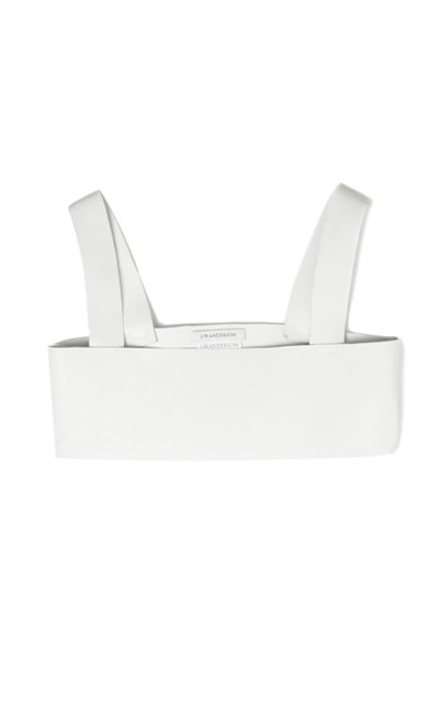 White Leather Bra Top by J.W. Anderson