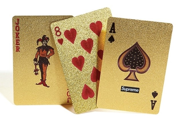 GOLD DECK OF CARDS BY SUPREME AW2013