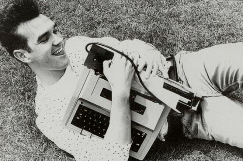 Morrisey and his typewriter