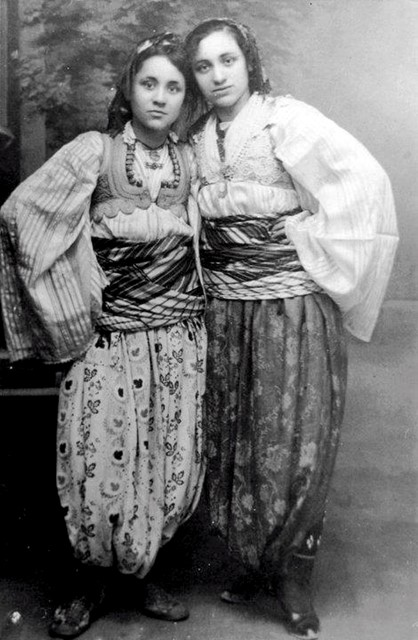 A young Mother Teresa (left) in fancy dress, 1920s