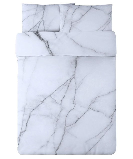 WHITE MARBLE DUVET SET