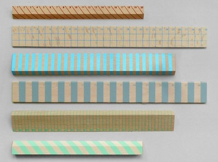 Striped rulers.