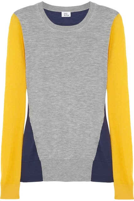 Colour-block cashmere sweater by Iris & Ink
