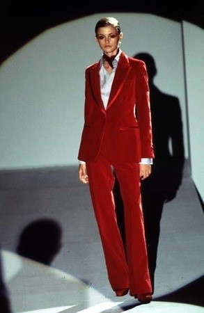 Gucci by Tom Ford velvet suit 1996