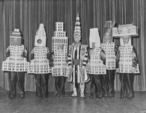 Famous architects dressed as their buildings