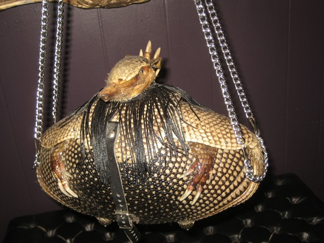 Taxidermy Armadillo Bag