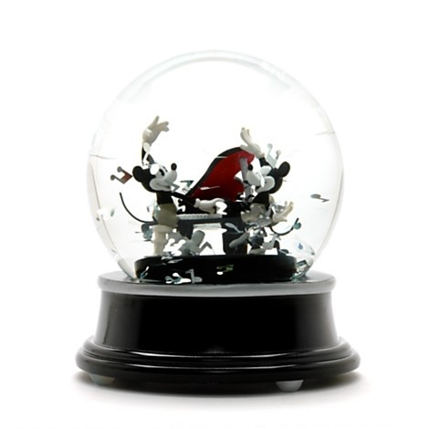Mickey and Minnie Mouse Musical Snow Globe