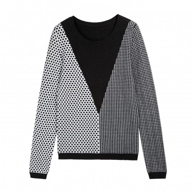 Square Dot Triangle Sweater Chinti + Parker Meets PATTERNITY