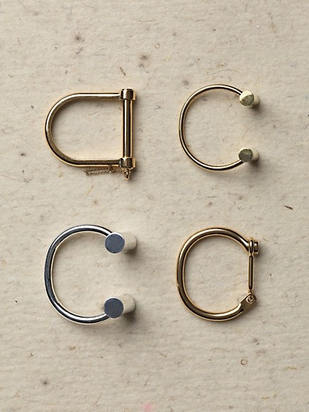 Céline handcuff and geometric bracelets
