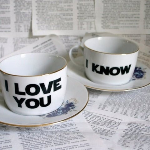 I Love You / I Know tea set