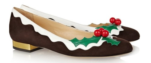 Christmas Pudding Shoes.