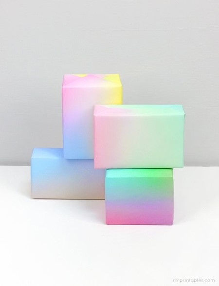 Print your own gradient gift wrap.