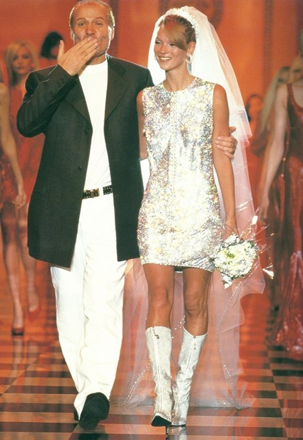 Gianni Versace & Kate Moss, 1995