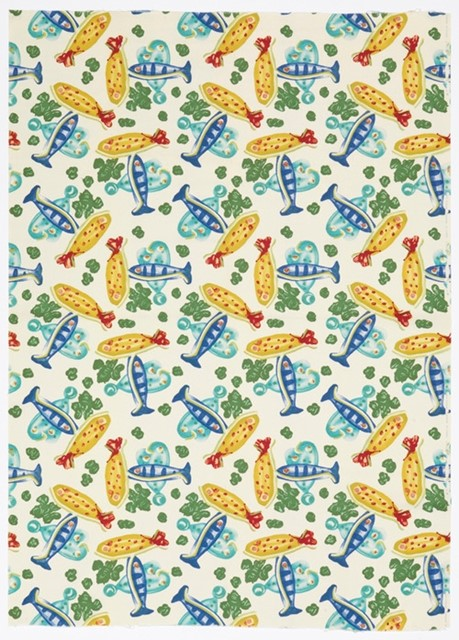 Textile design by Picasso, 1953