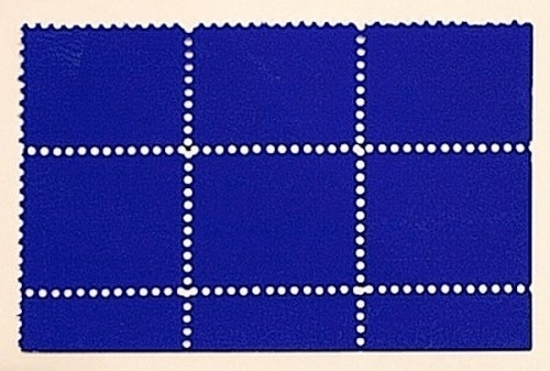 Untitled (IKB Pigment on Postal Stamps) by Yves Klein